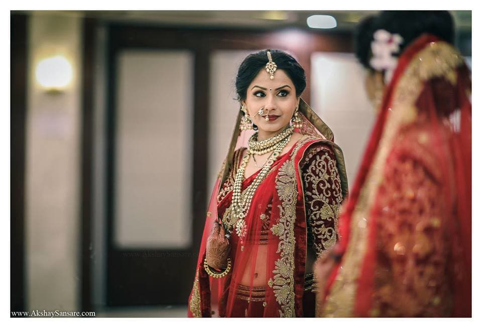 bridal lehenga:akshay sansare photography and films
