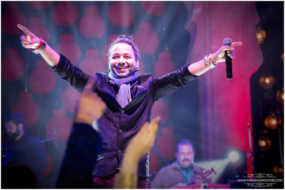kailash kher at sangeet:the wedding story