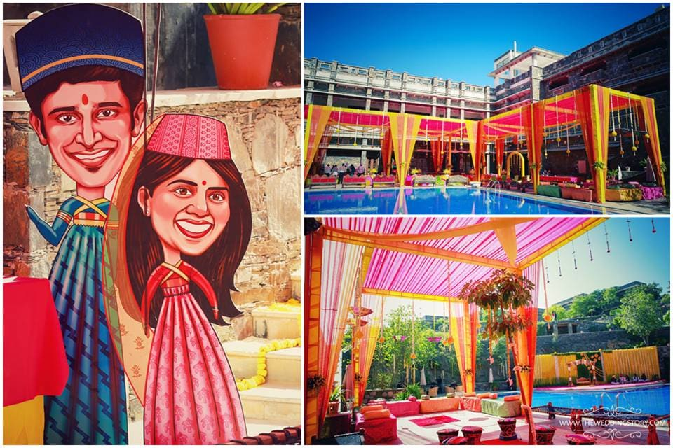 sangeet venue:the wedding story