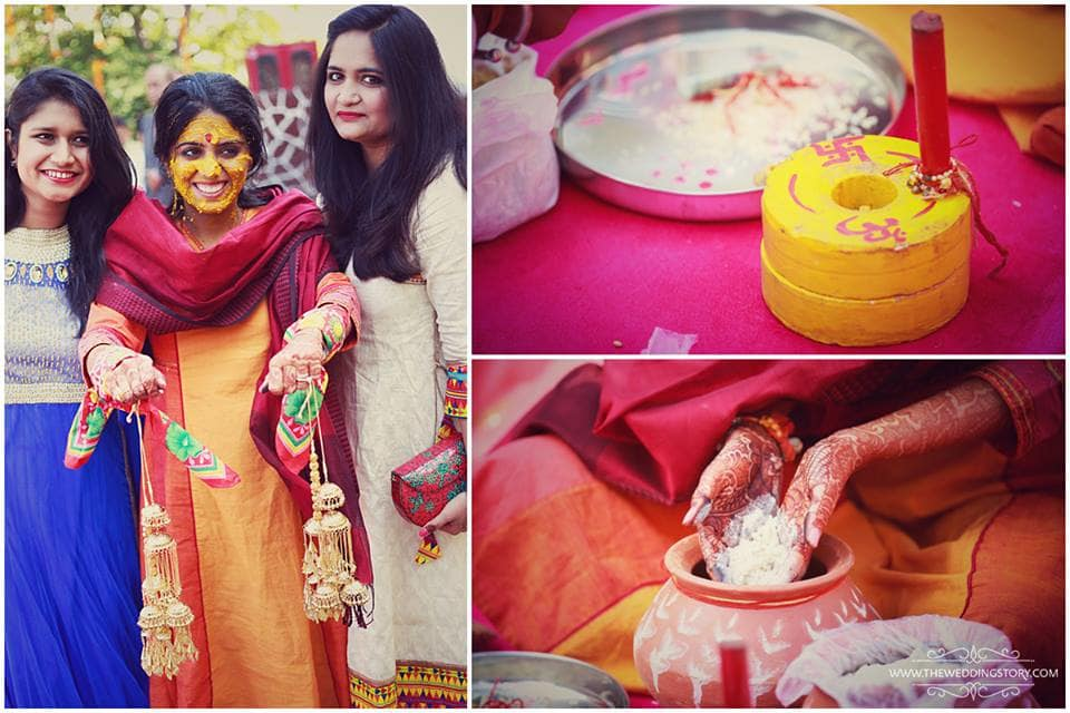 haldi ritual:the wedding story
