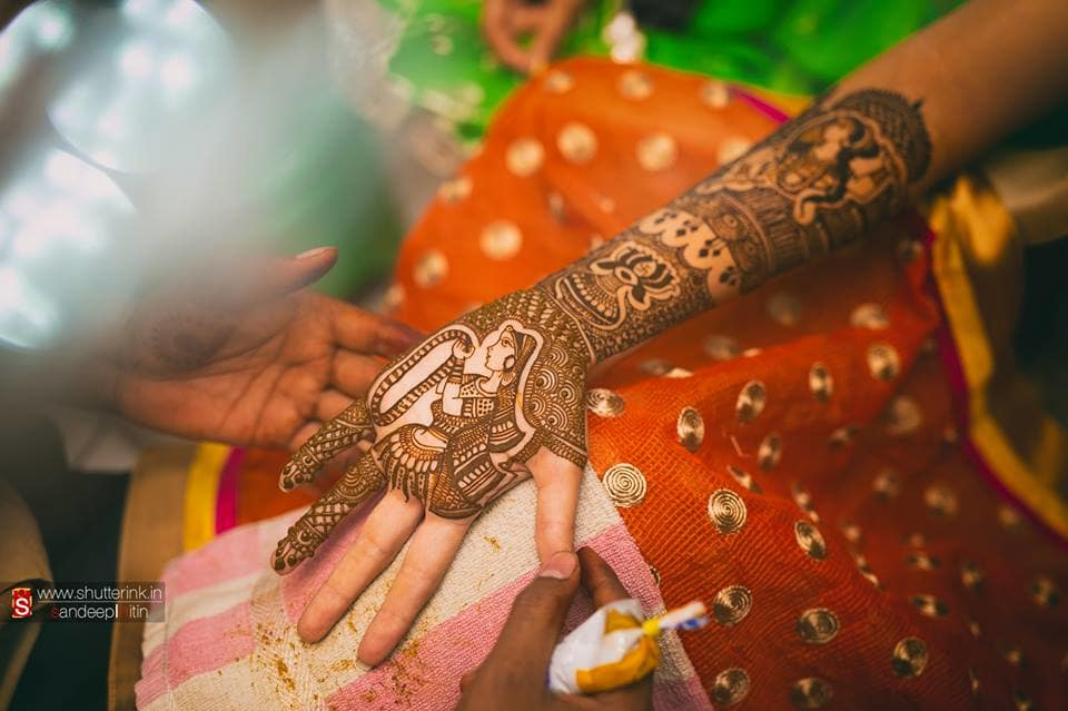 beautiful bridal mehandi:shutterink photography