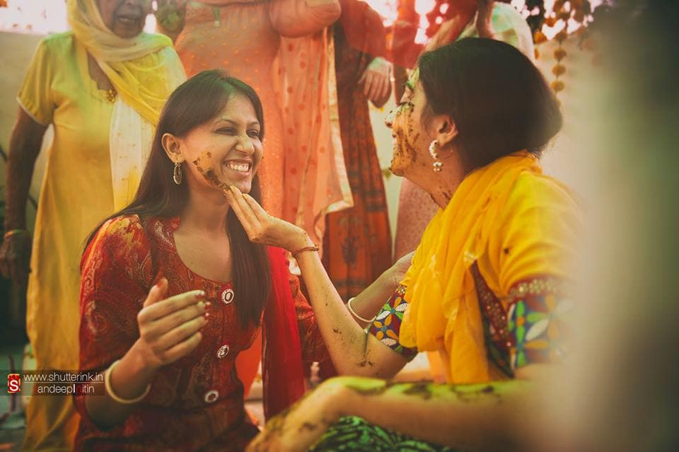 wedding ritual haldi:shutterink photography
