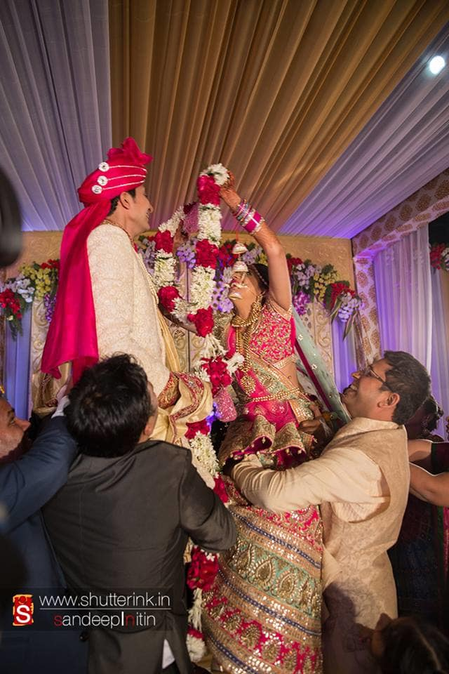 wedding ritual jai mala:shutterink photography