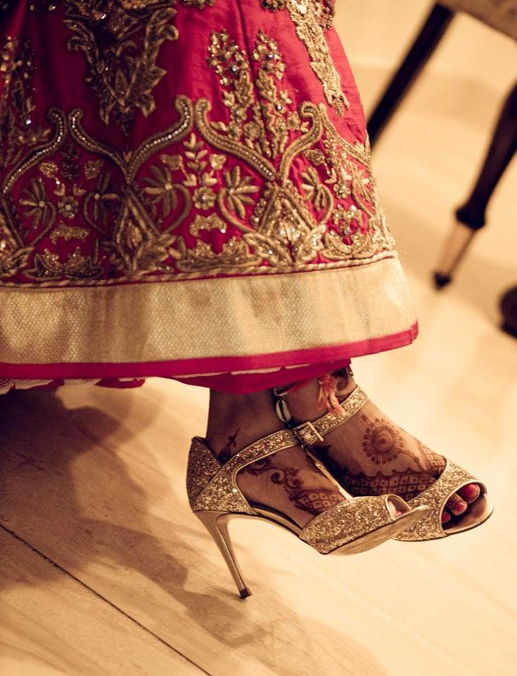 bridal footwear:pavan jacob photography