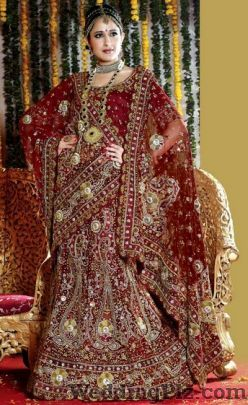 Suraj Bhan Sant Ram Wedding Lehnga and Sarees weddingplz